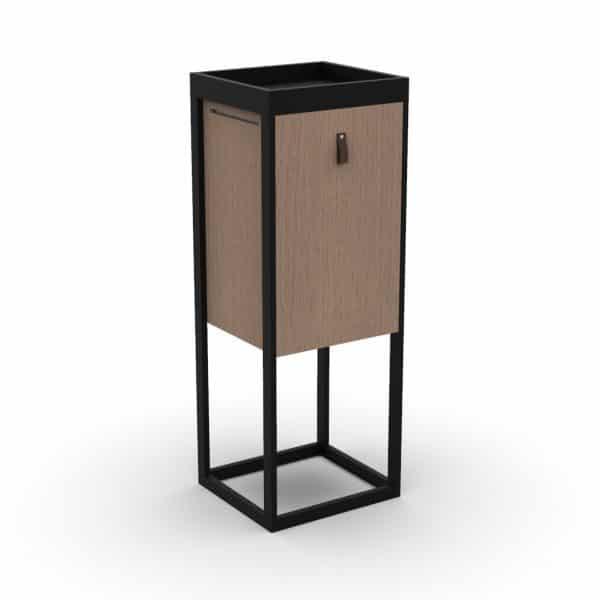 Lombricomposteur design créatif noir de natuco