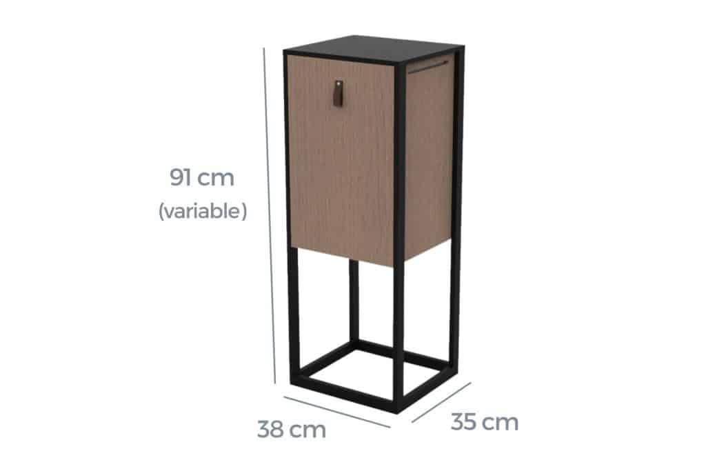 Dimensions du lombrico lombricomposteur en bois design de natuco